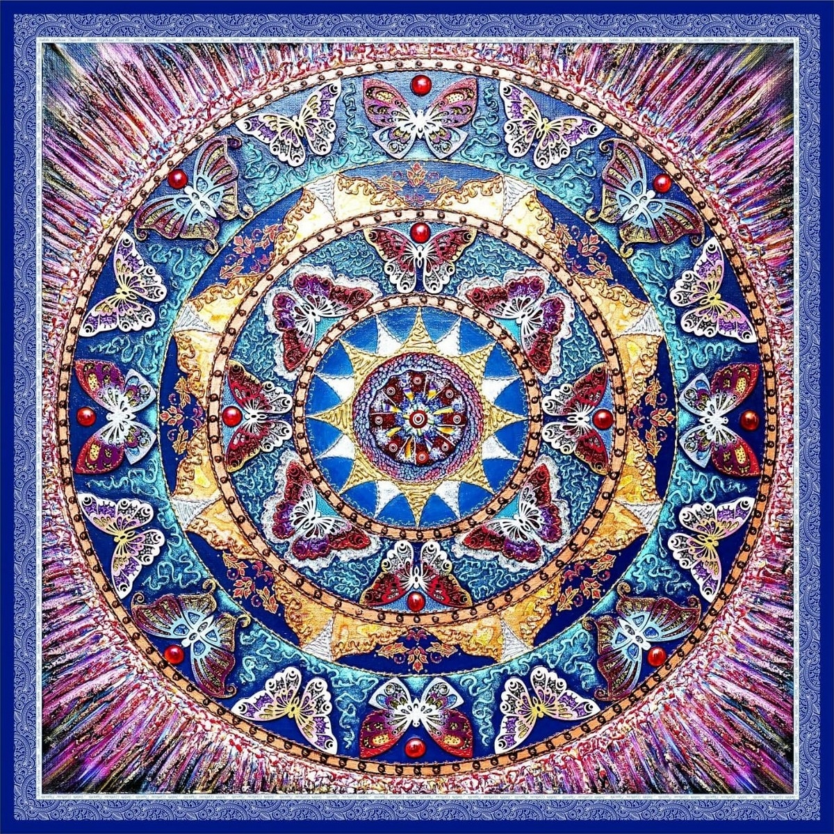 """Шелковый платок """"Радости и самоисцеления"""""""