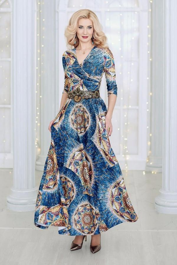 """Трикотажное Платье """"Цветок Души"""""""