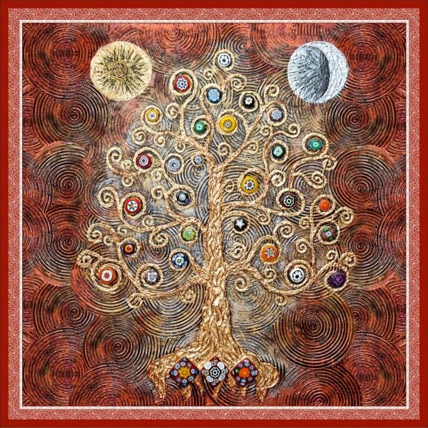 """Шелковый Платок - символ """"Древо Изобилия"""""""